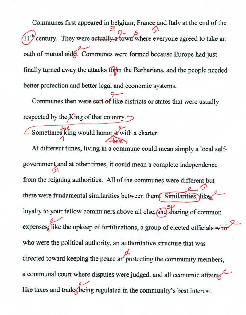 Editing Worksheets High School Proofreading Marks and How to Use them Grammar Tutorial In