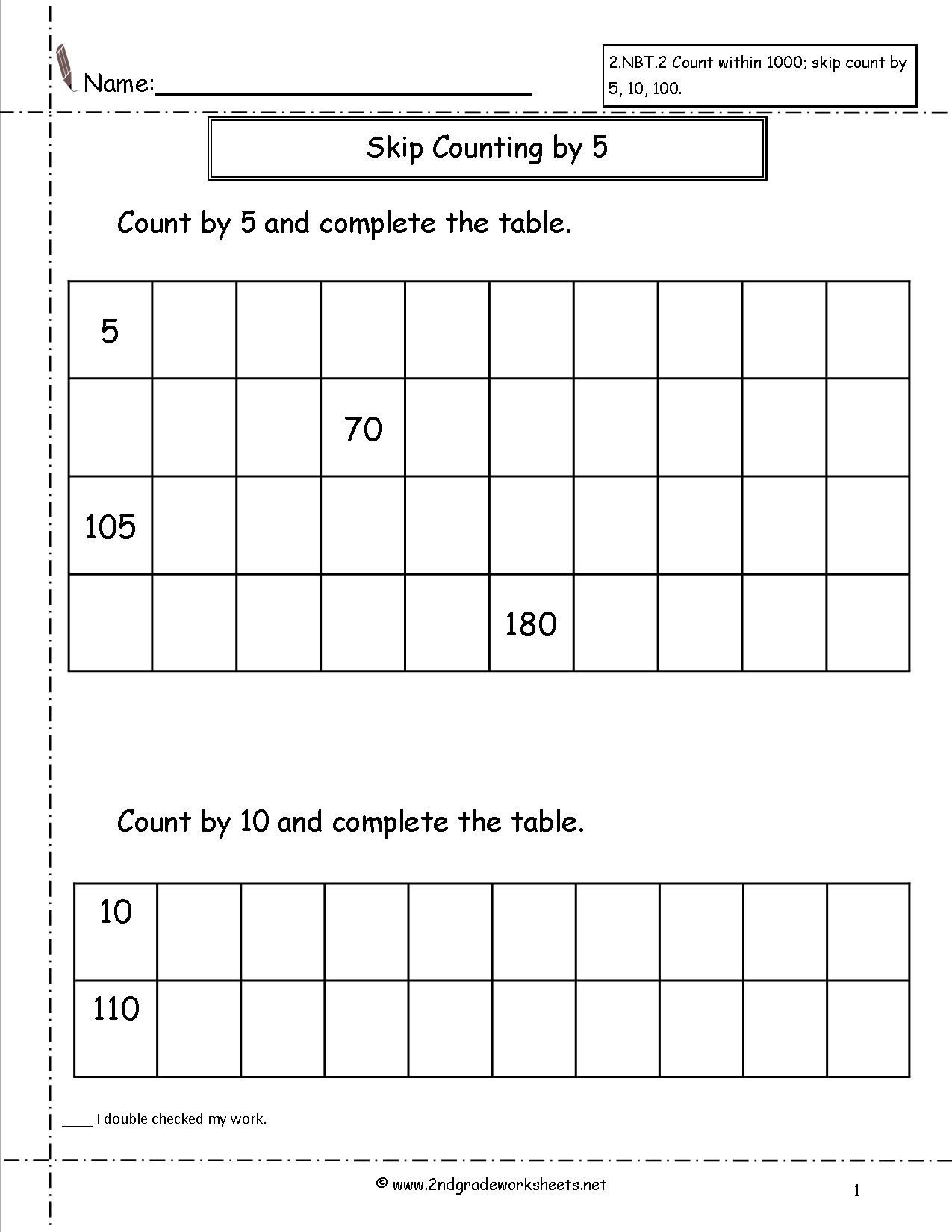 First Grade Skip Counting Worksheets Fun is Fun Printable Two Digit Addition Worksheets Skip