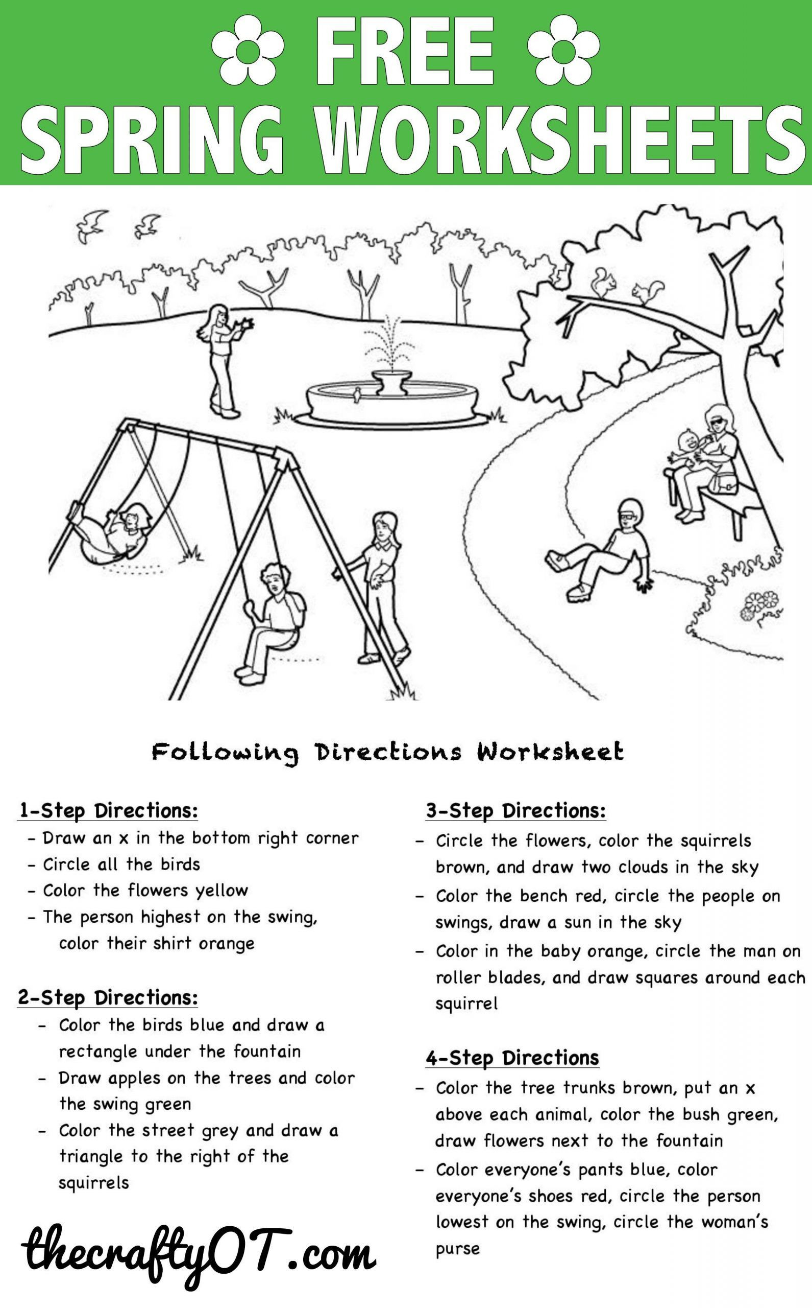 Following Directions Printables Pin On Kindergarten Worksheets Free Printable