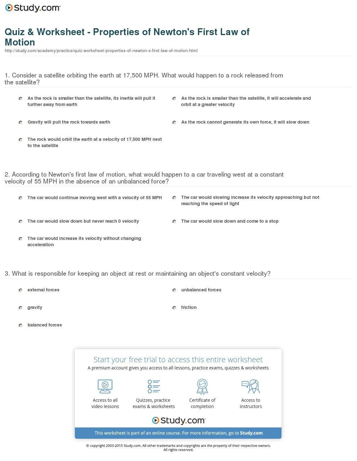 Force and Motion Printable Worksheets force and Motion Worksheet Answers Second Grade Motion