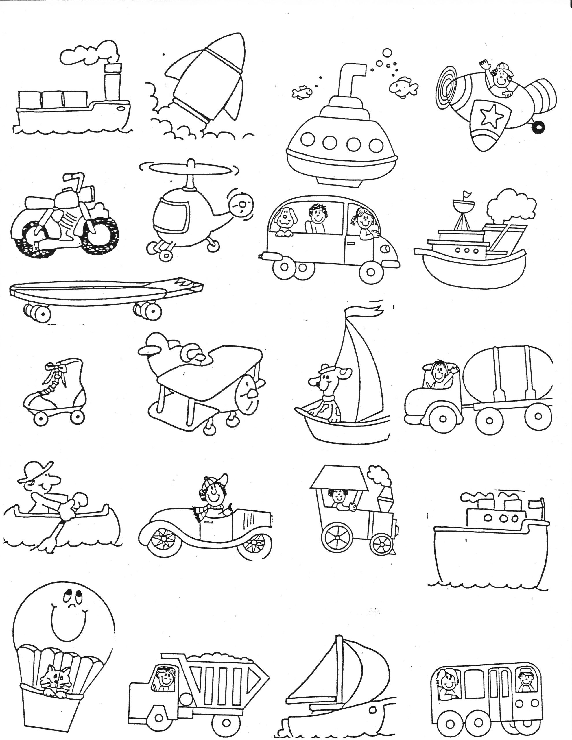 Force and Motion Printable Worksheets Transportation Kindergarten Nana force and Motion Worksheets