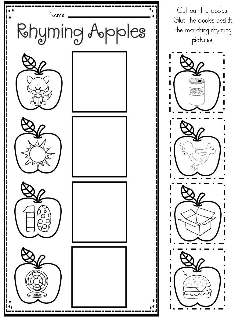 Free Printable Apple Worksheets Apple themed Math and Literacy Printables for Young Learners