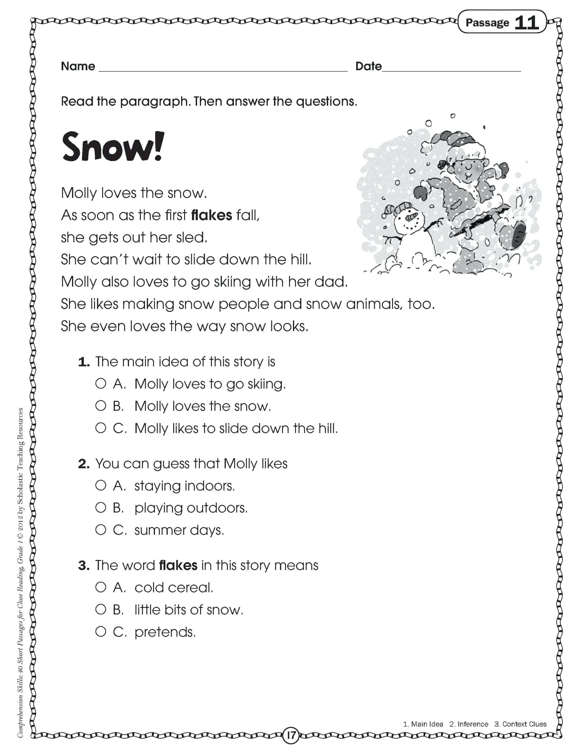 Free Printable Main Idea Worksheets Main Idea Worksheets 4th Grade to Printable Math Worksheet