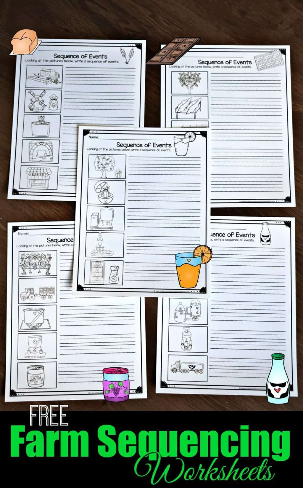 Free Printable Sequencing Worksheets Farm Sequencing Worksheets