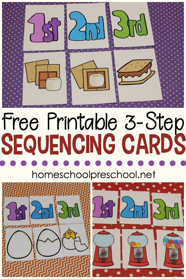 Free Printable Sequencing Worksheets Free 3 Step Sequencing Cards for Preschoolers