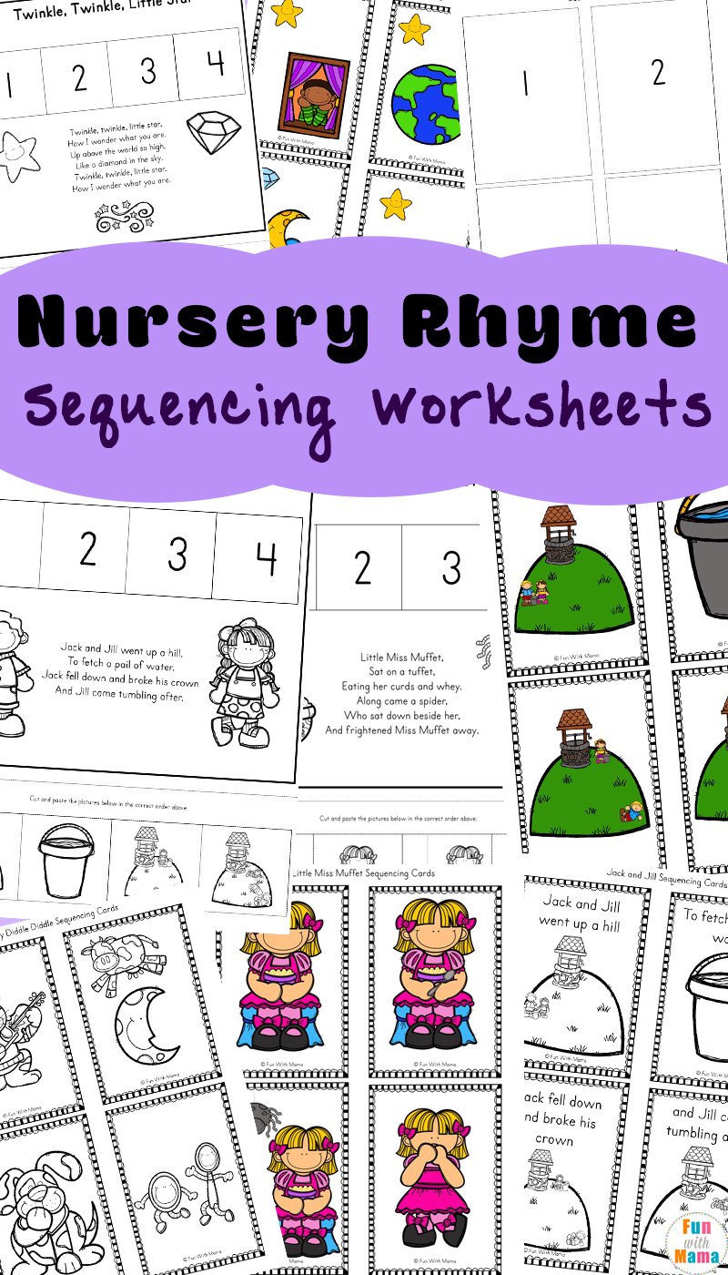 Free Printable Sequencing Worksheets Free Nursery Rhymes Sequencing Activities Fun with Mama