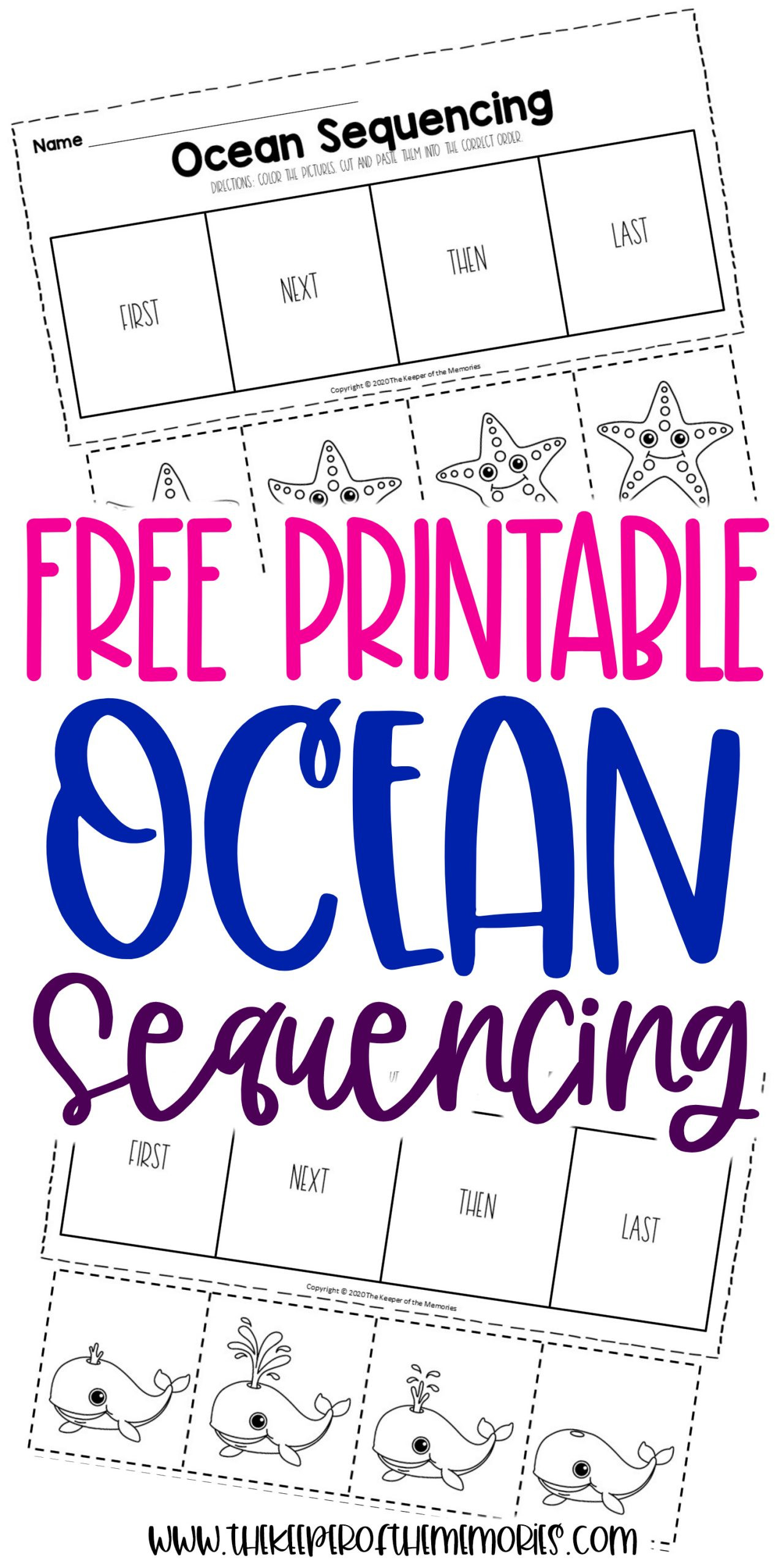 Free Printable Sequencing Worksheets Free Printable Ocean Kindergarten Sequencing Worksheets