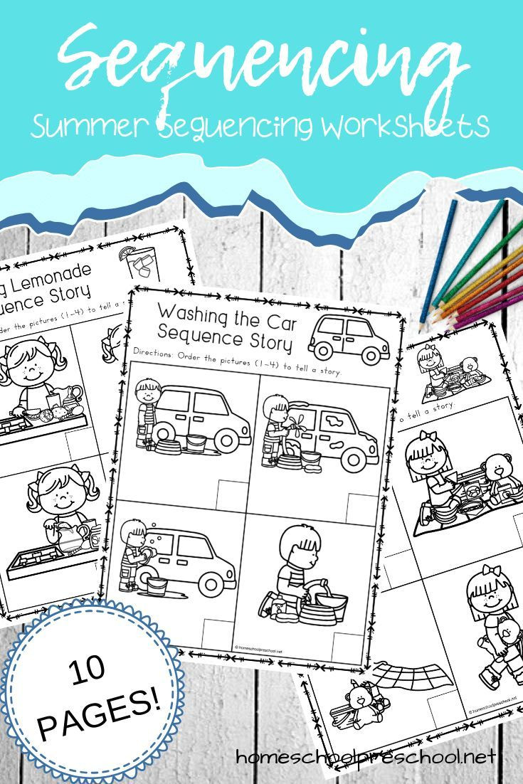Free Printable Story Sequencing Worksheets Free Sequencing Worksheets for Summer Learning