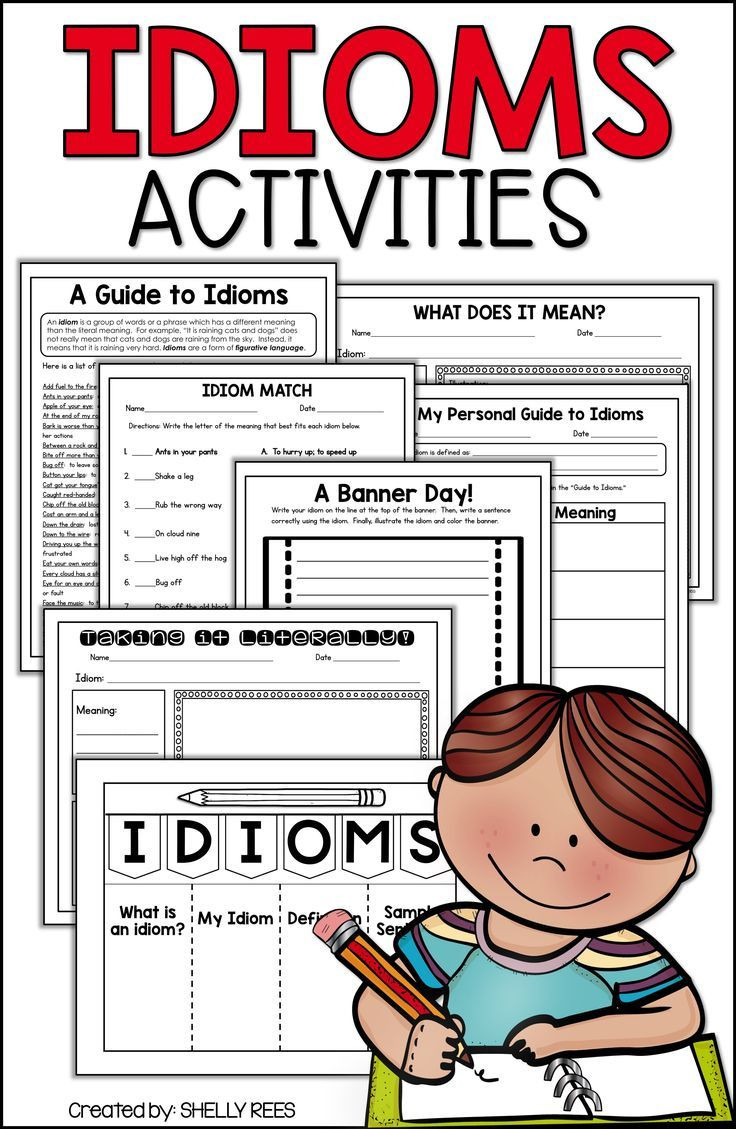 Idiom Worksheets for 2nd Grade Idioms Worksheets and Activities