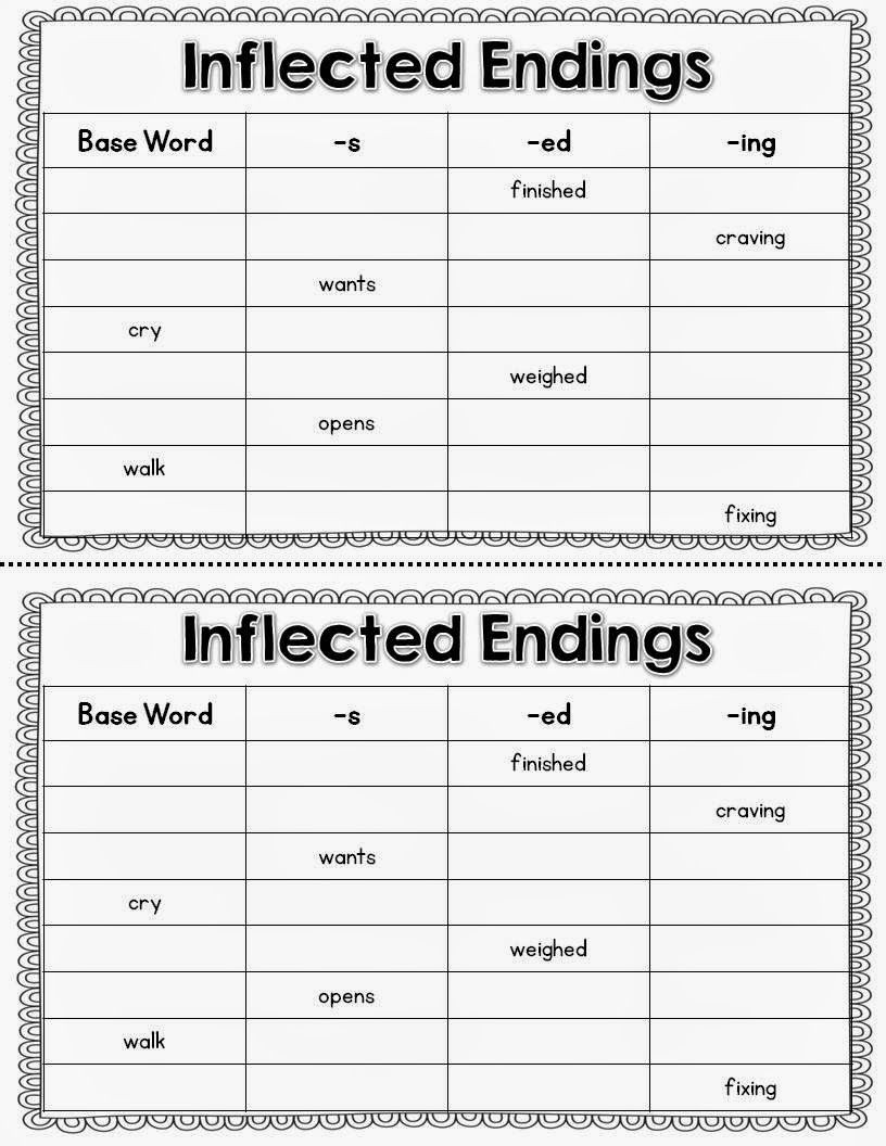Inflectional Endings Worksheets 2nd Grade Guided Reading and Intervention with Freebies with