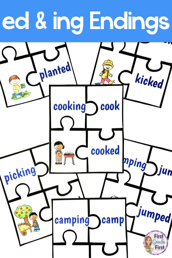 Inflectional Endings Worksheets 2nd Grade Inflectional Endings Ed and Ing Activities