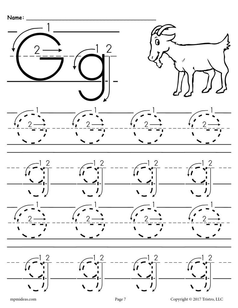 Letter 20G 20Tracing 20Worksheet 20With 20Number 20and 20Arrow 20Guides 1024x1024