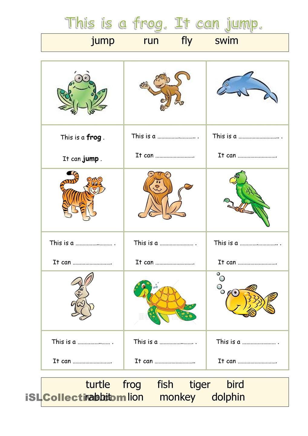 Mammals Worksheets for 2nd Grade Animals Can