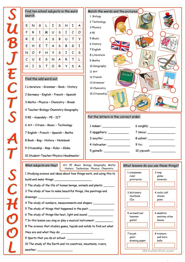 Map Skills Worksheets Middle School School Subjects Vocabulary Exercises English Esl