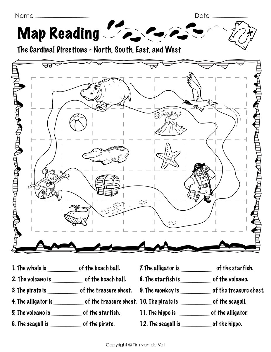 Map Worksheets for First Grade Worksheet First Gradeng Practice Picture Inspirations
