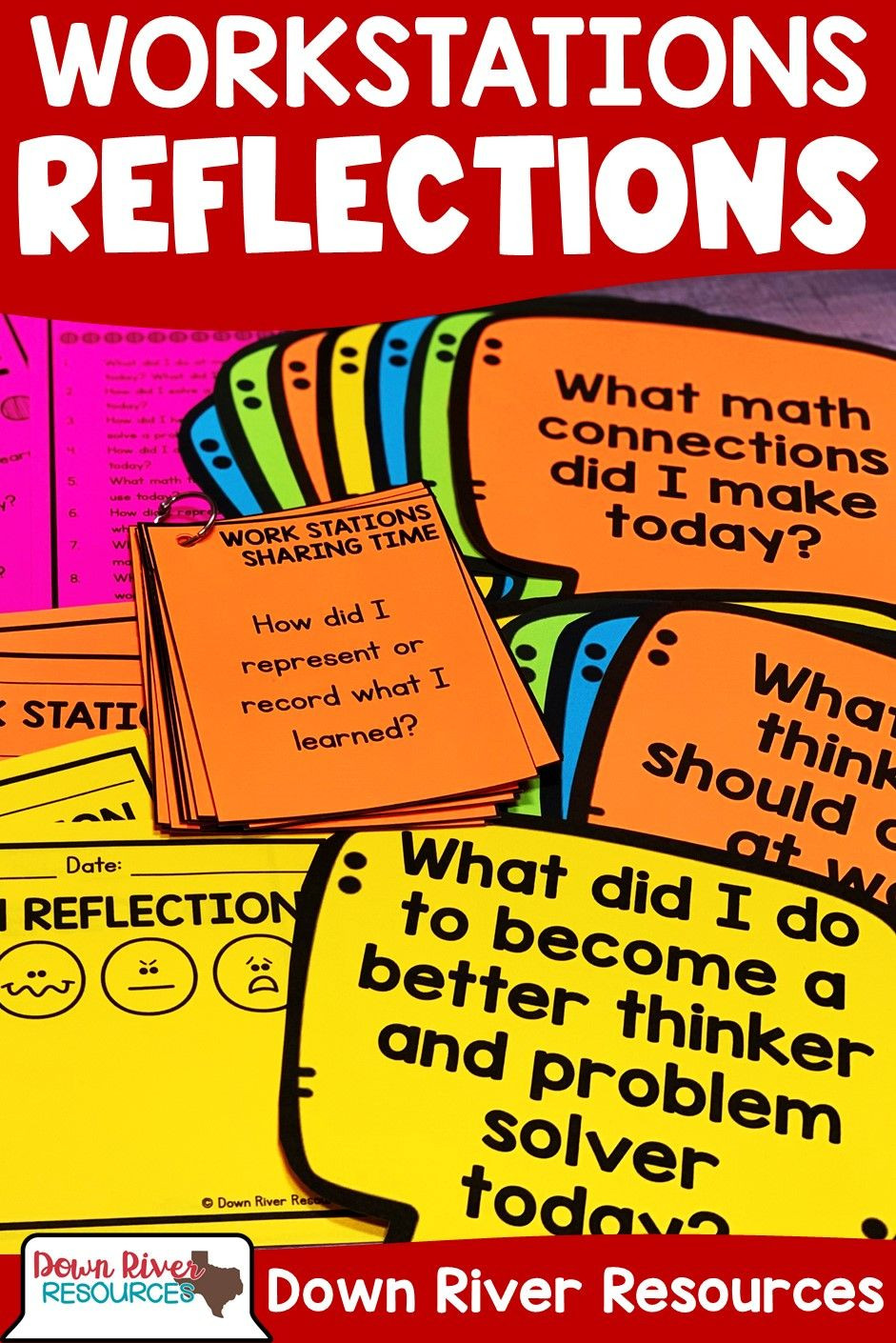 Math Aids Reflections Math Work Stations Sharing Time Question Cards