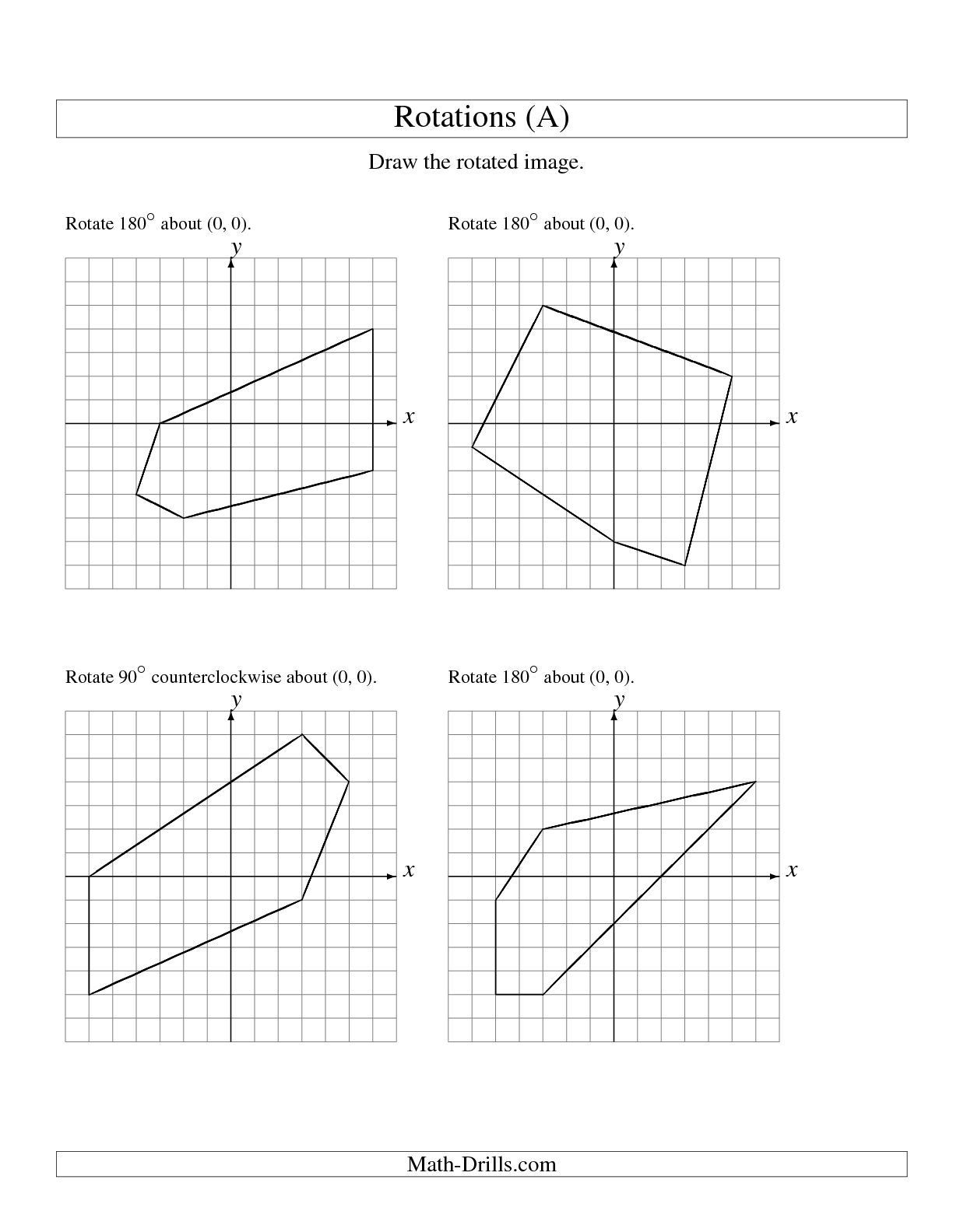 reflections and rotations worksheets printable math conversion 4th grade geometry worksheet preschool activities kinder sheets fraction review 8th level is fun sequences free