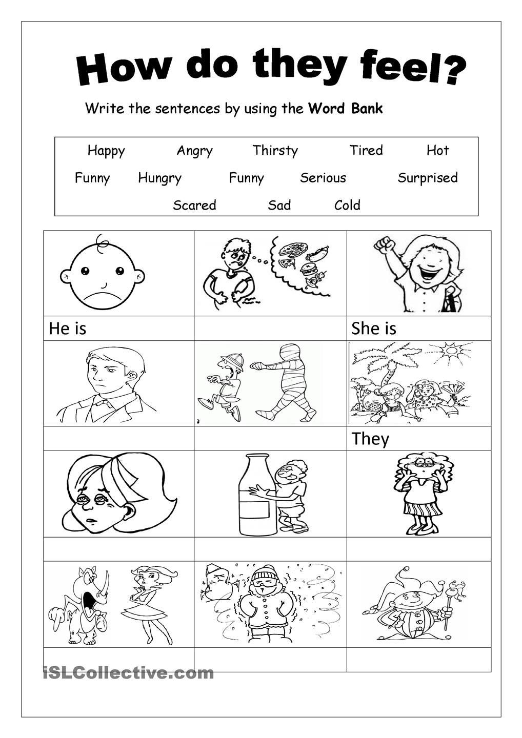 Mood Worksheets for Middle School Feelings