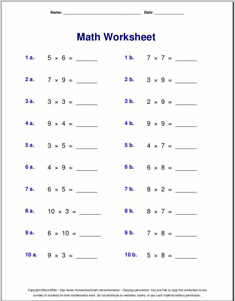 Multiplication Worksheets Grade 4 Pdf Multiplication Worksheets Grade 4