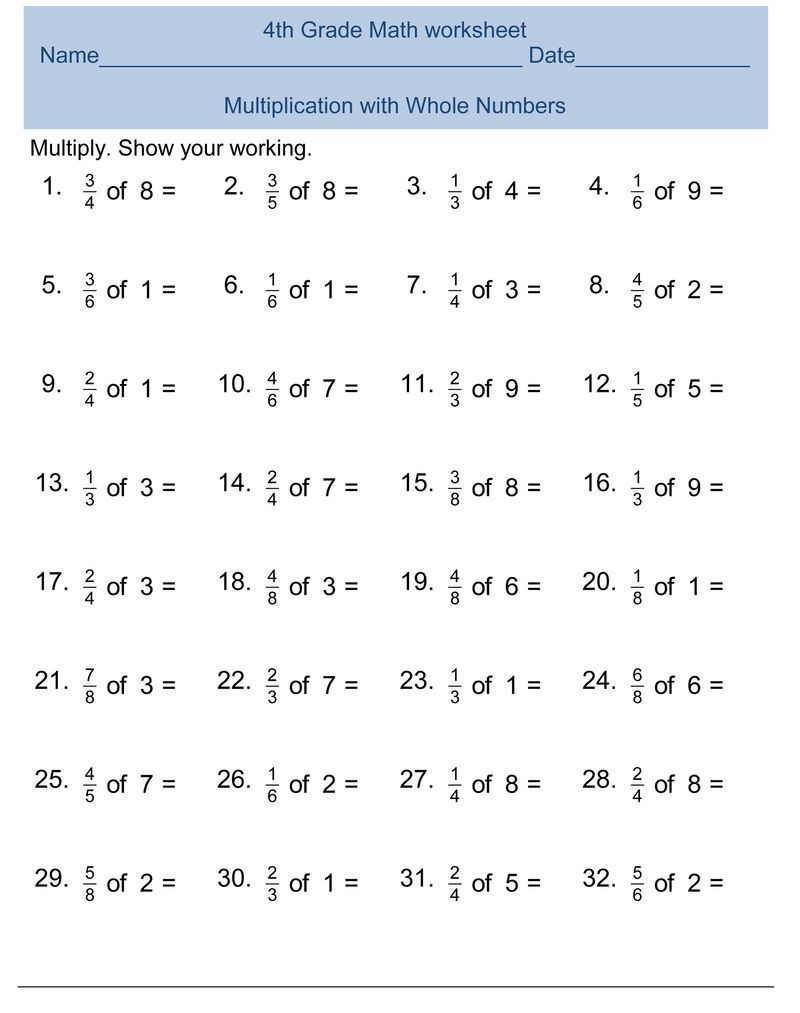Multiplication Worksheets Grade 4 Pdf Number System Worksheets Grade 4