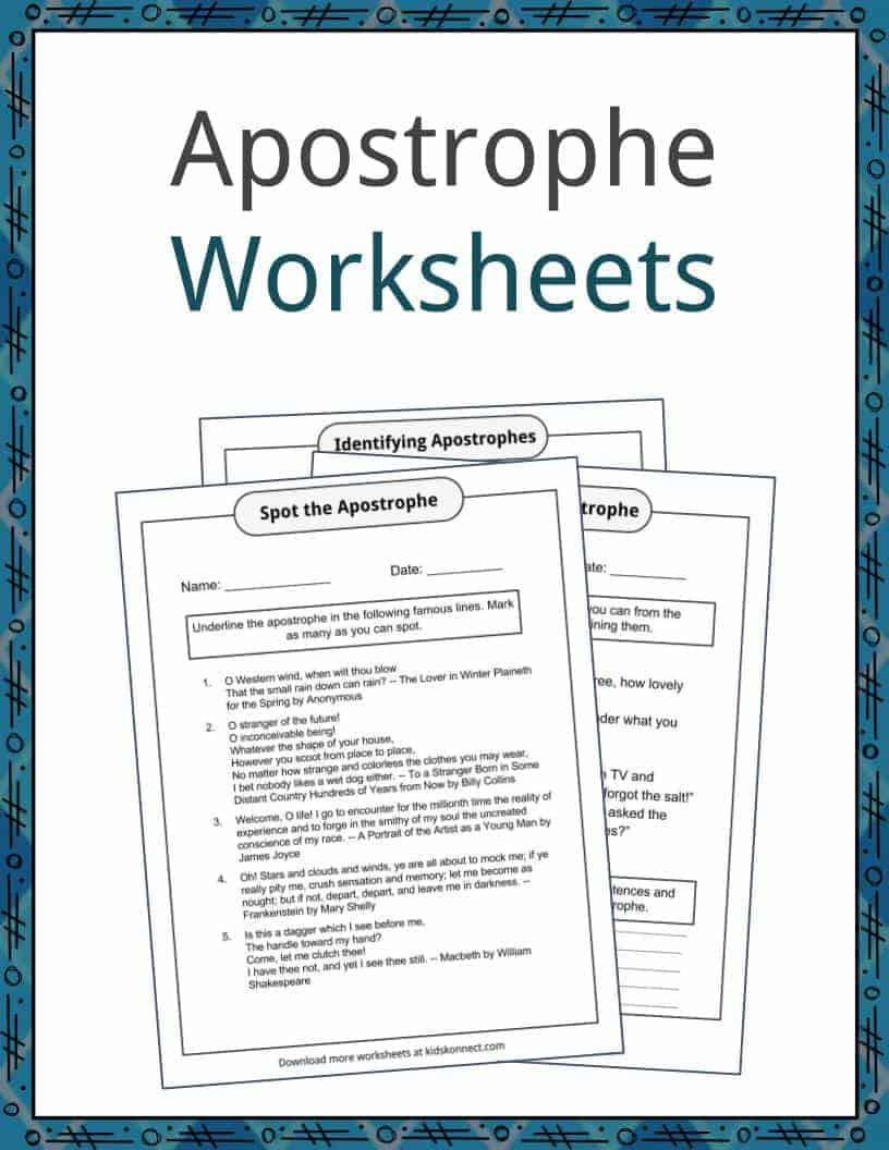 Paragraph Editing Worksheets 4th Grade Apostrophe Examples Definition and Worksheets