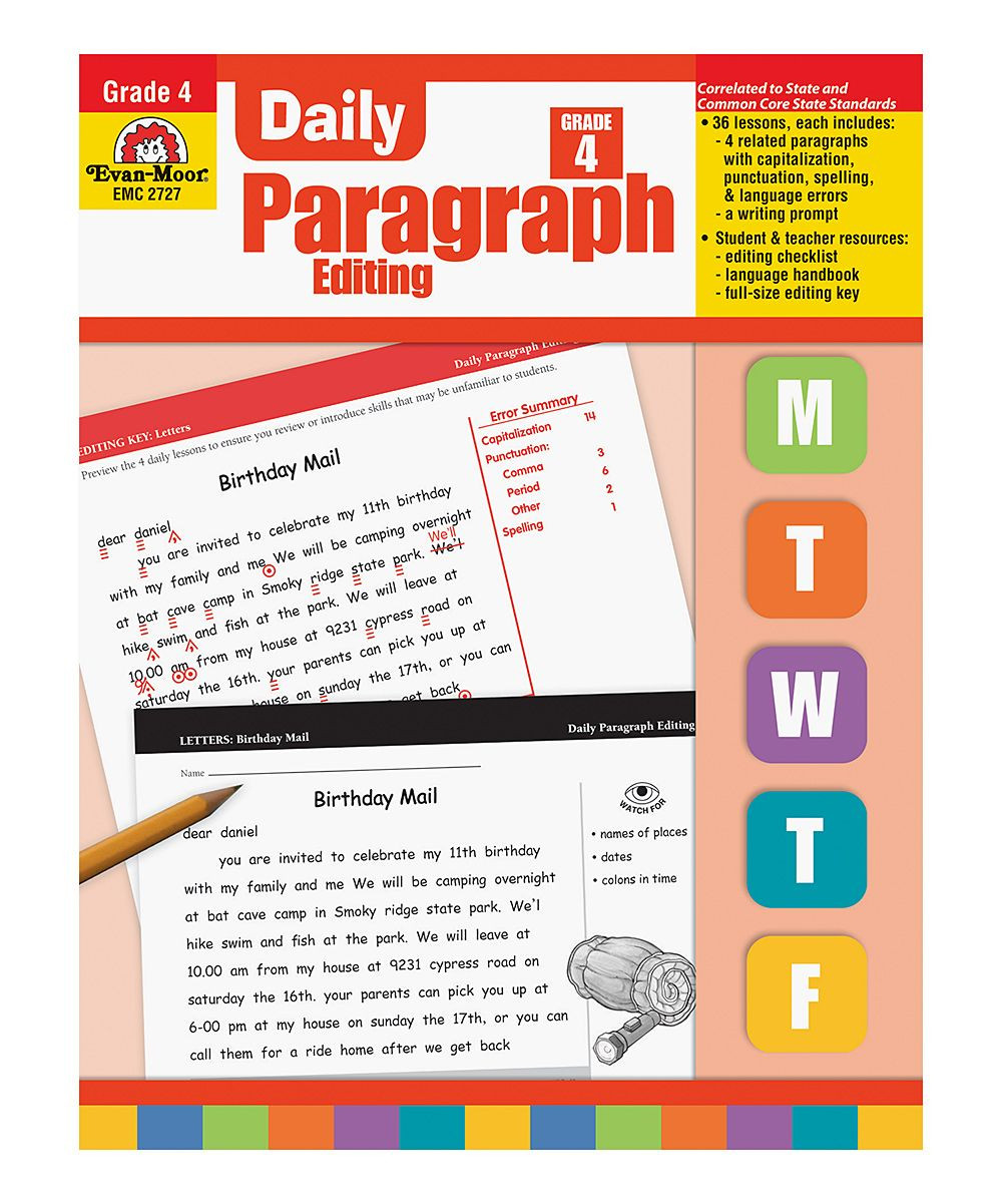 Paragraph Editing Worksheets 4th Grade Pin On Homeschool Curriculum
