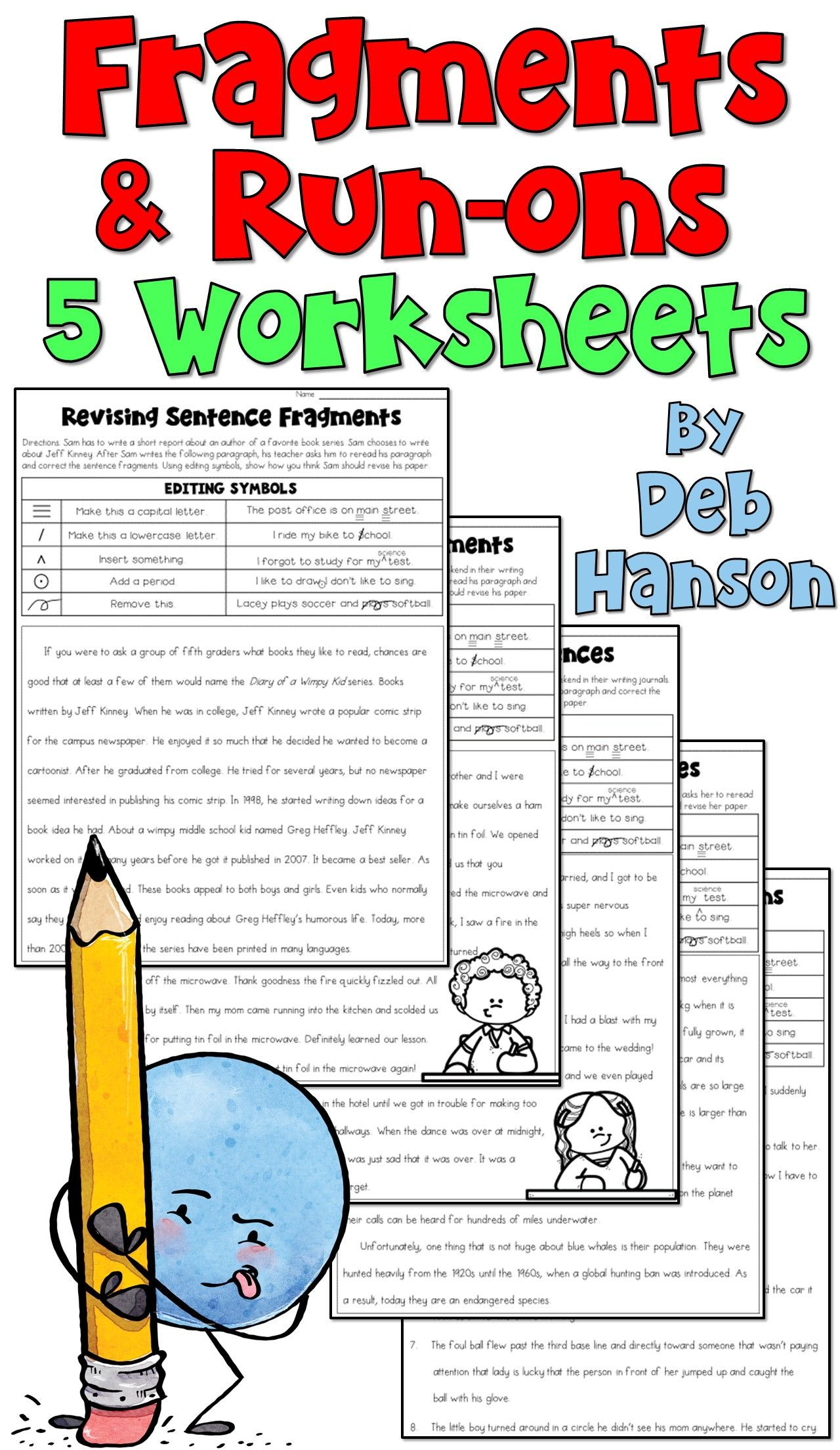 Paragraph Editing Worksheets 4th Grade Practice Revising Fragments and Run Ons with these Five