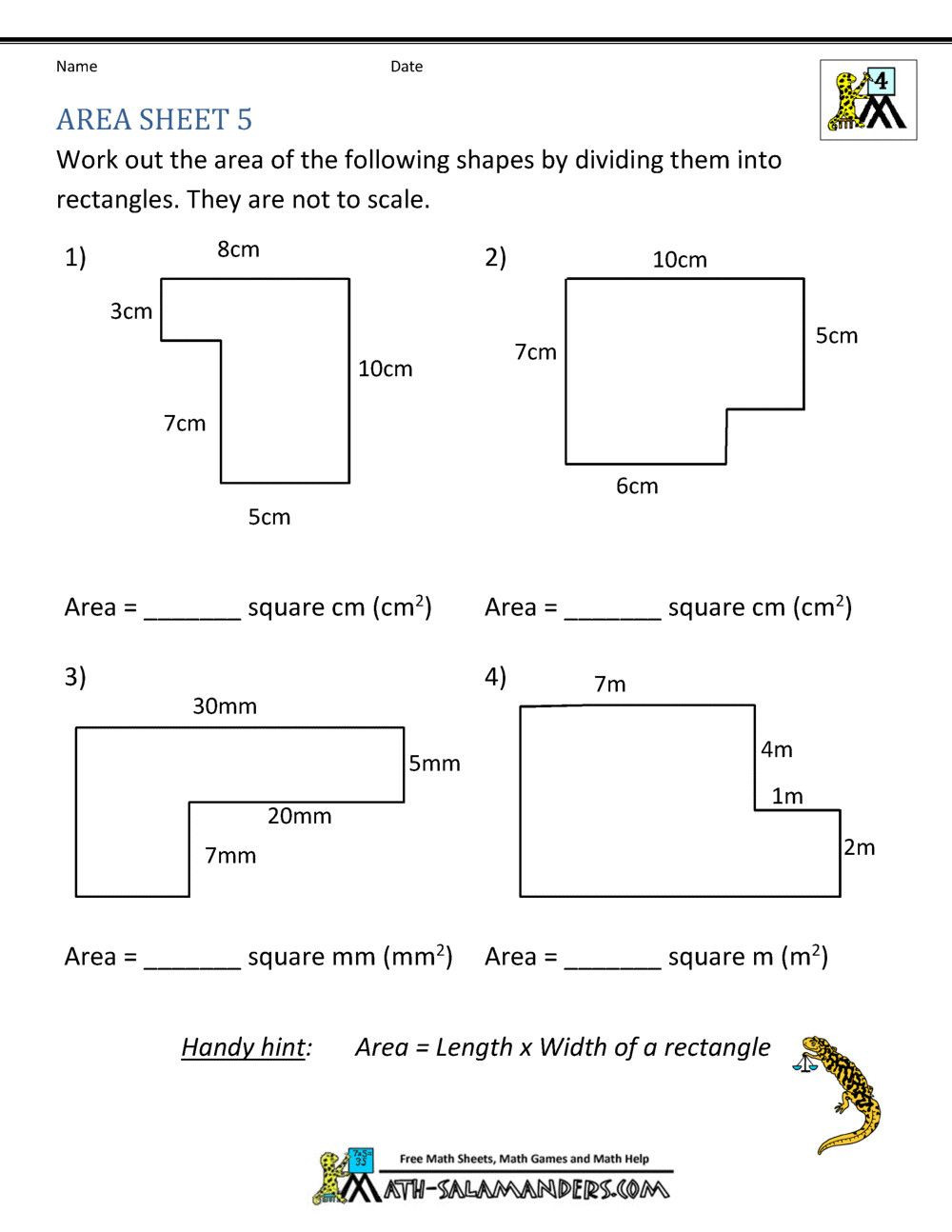 Perimeter Worksheets 3rd Grade Pdf 5 area A Triangle Worksheet 6th Grade 2 In 2020 with