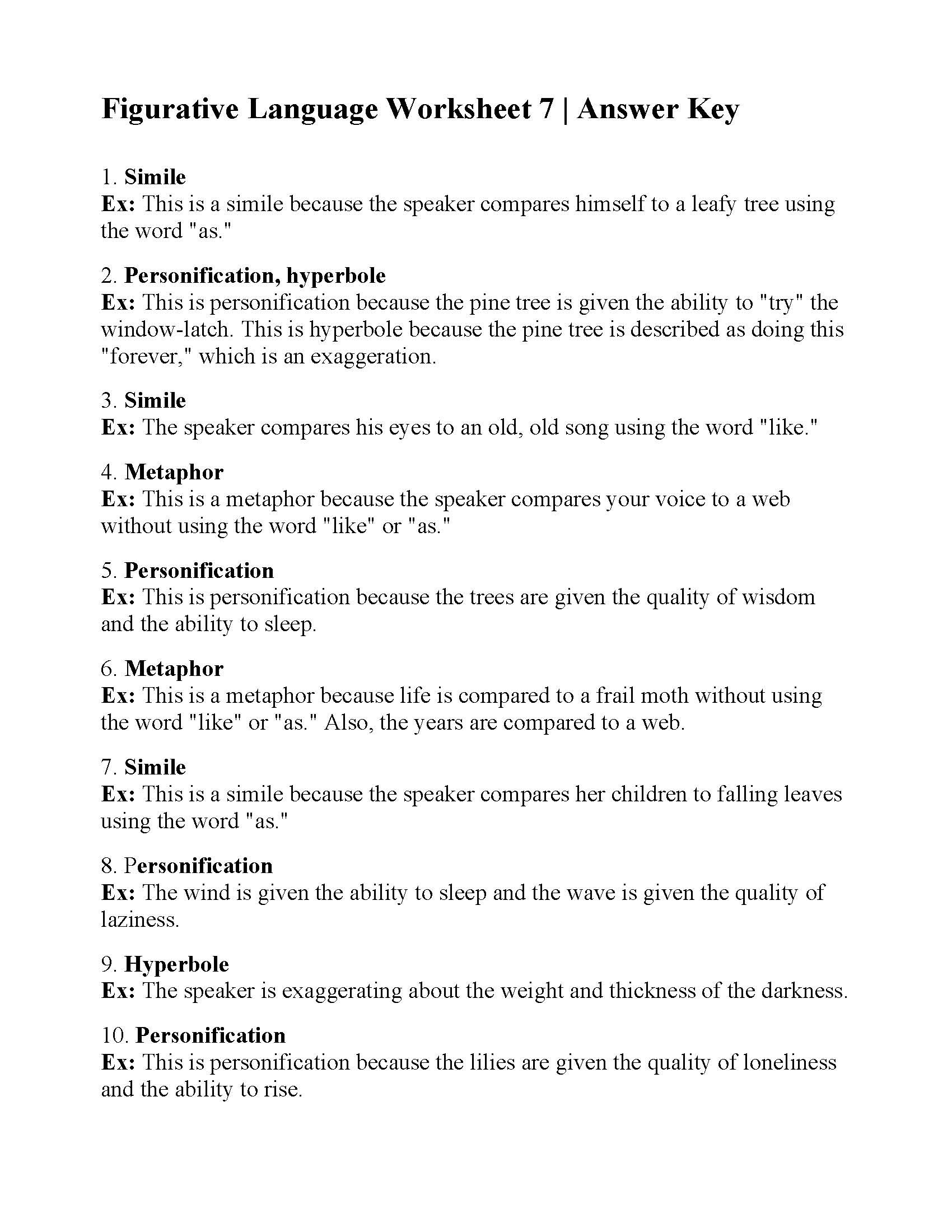 Personification Worksheets for Middle School Mon Core Multiplication Facts Worksheets 0 9 Free Math