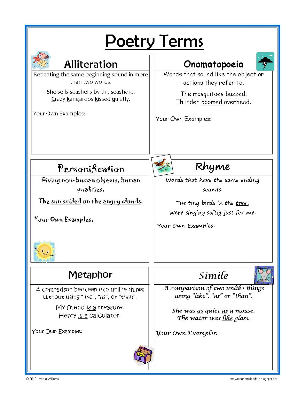 Personification Worksheets for Middle School Personification Worksheets for Students