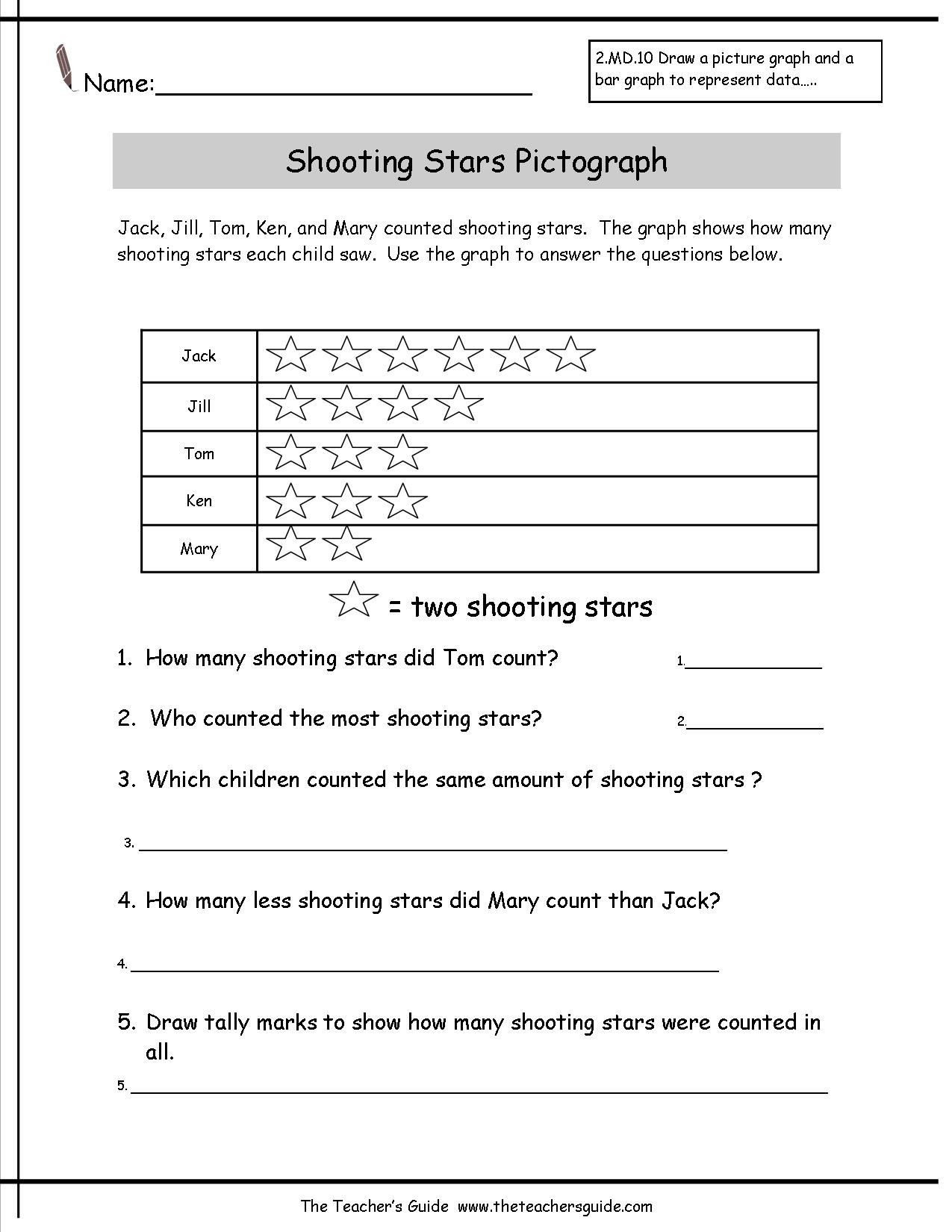 Picture Graph Worksheets 2nd Grade Worksheet Pictographs Worksheets Reading and Creating