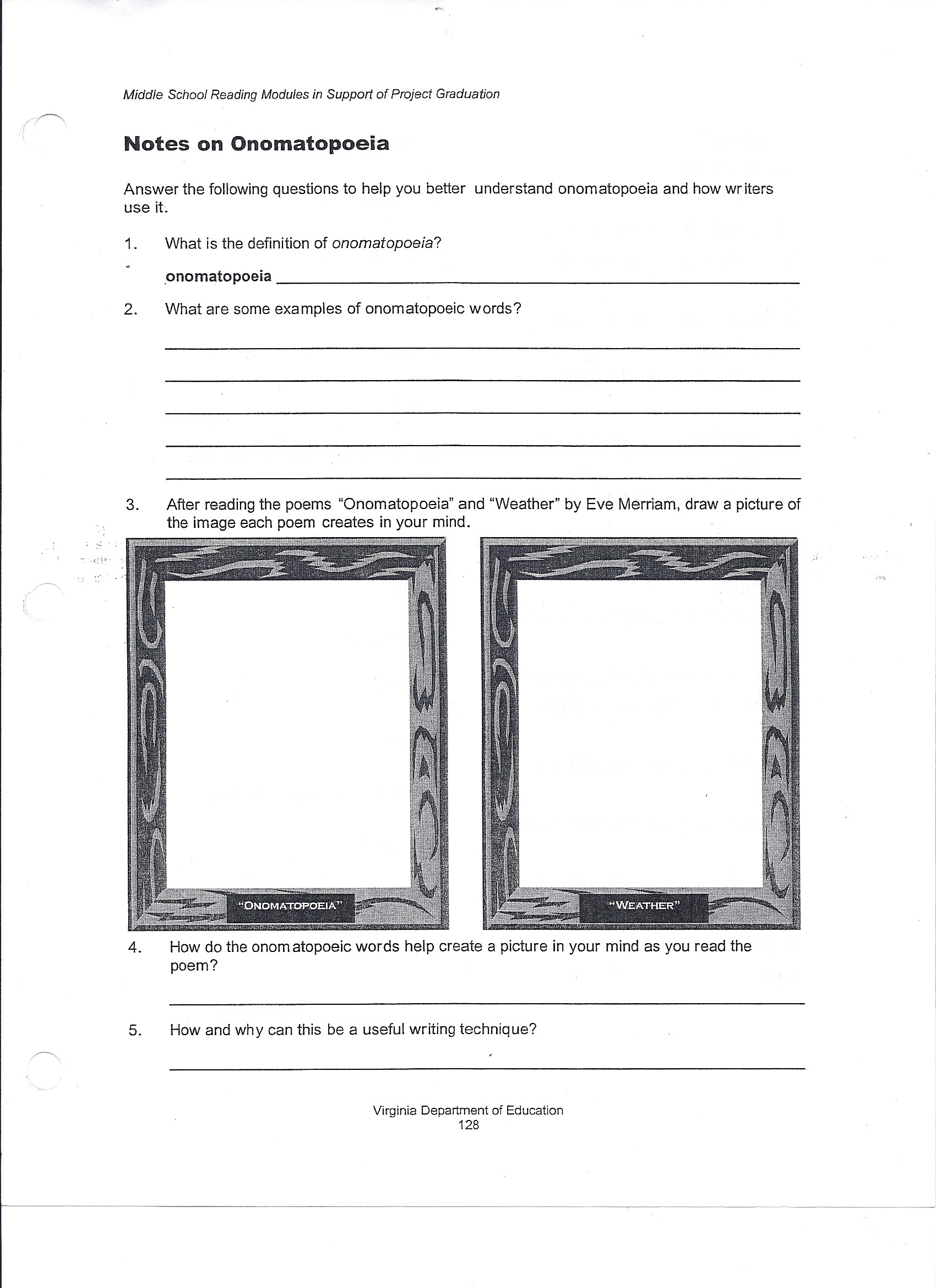 Poetry Worksheets Middle School Simile Worksheets for 6th Grade