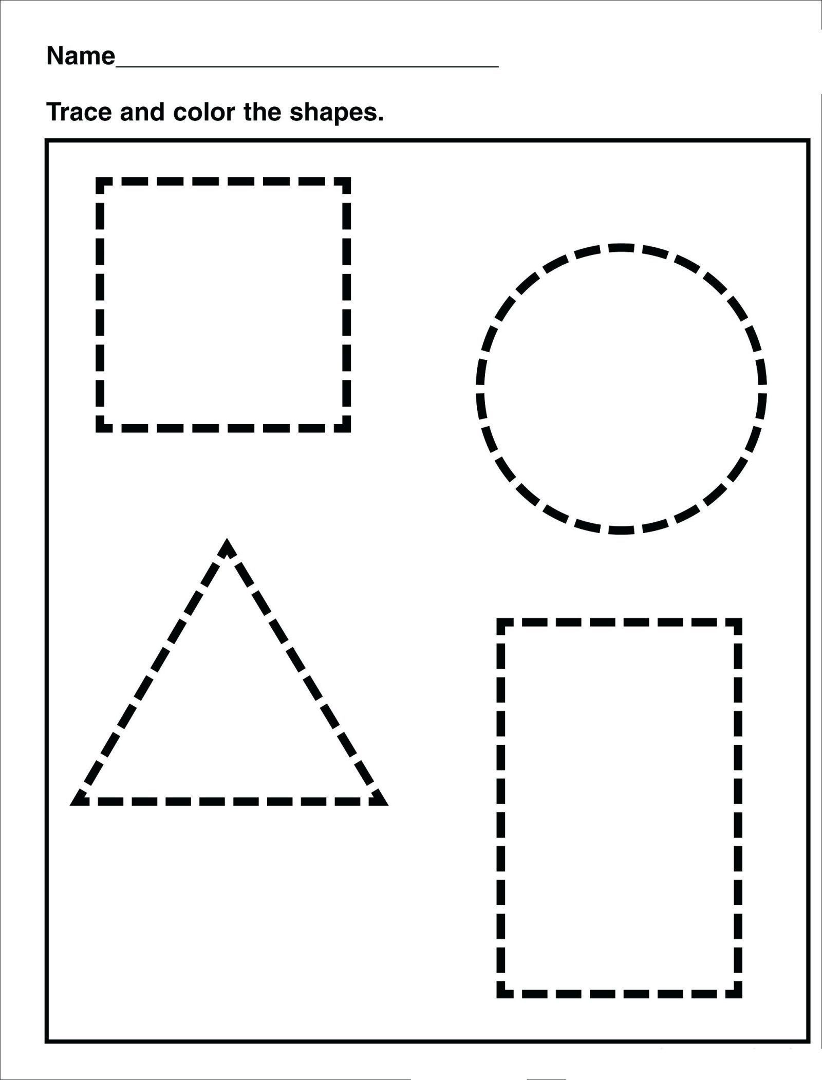 Polygon Worksheets 2nd Grade Free Shape Tracing Worksheets Activities Free
