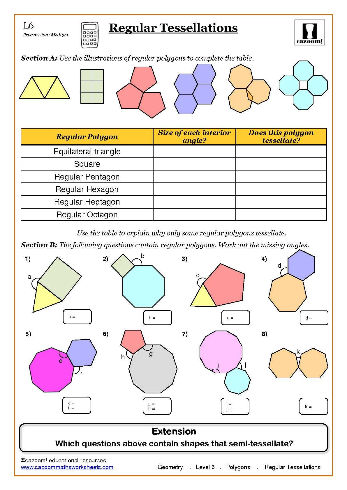 Polygon Worksheets 3rd Grade Differentiated Printable Visual Worksheets
