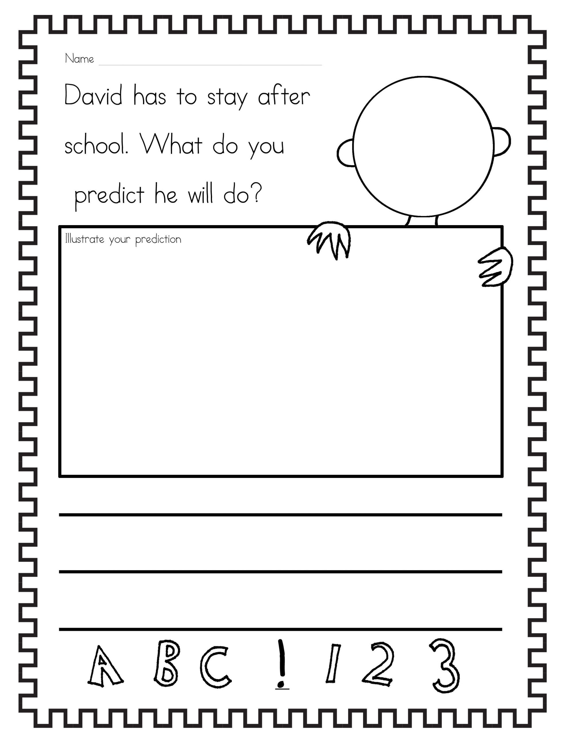 Prediction Worksheets 2nd Grade the Teaching Gal
