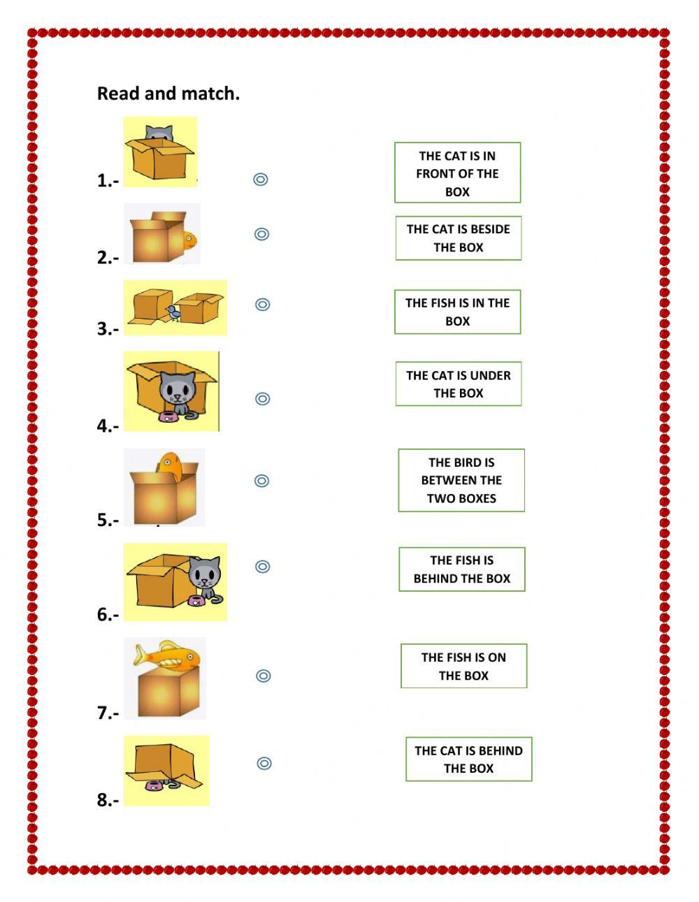 Preposition Worksheets for Grade 1 Prepositions Of Place Interactive and Able Worksheet