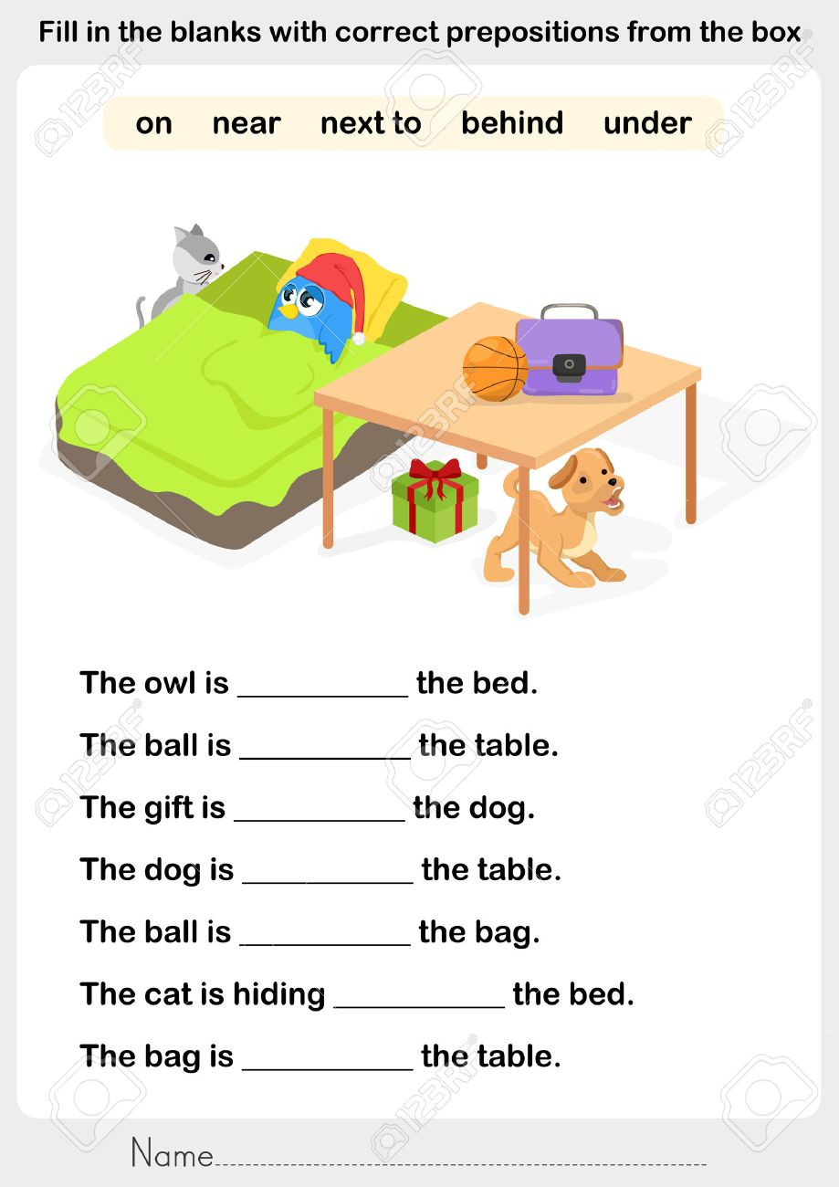 Preposition Worksheets for Middle School Preposition Worksheets Search