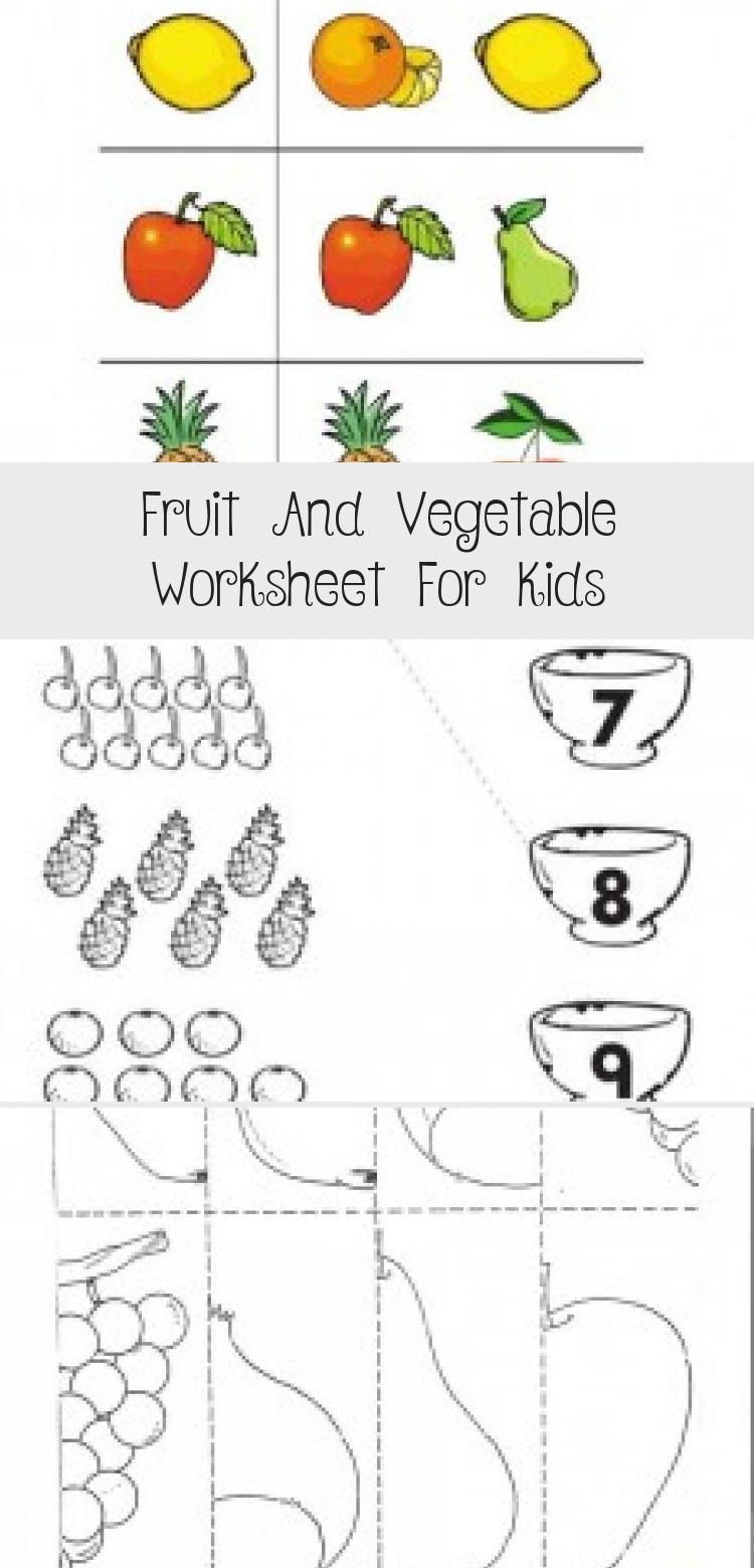 Preschool Fruits and Vegetables Worksheets Pin On toys Diy toys