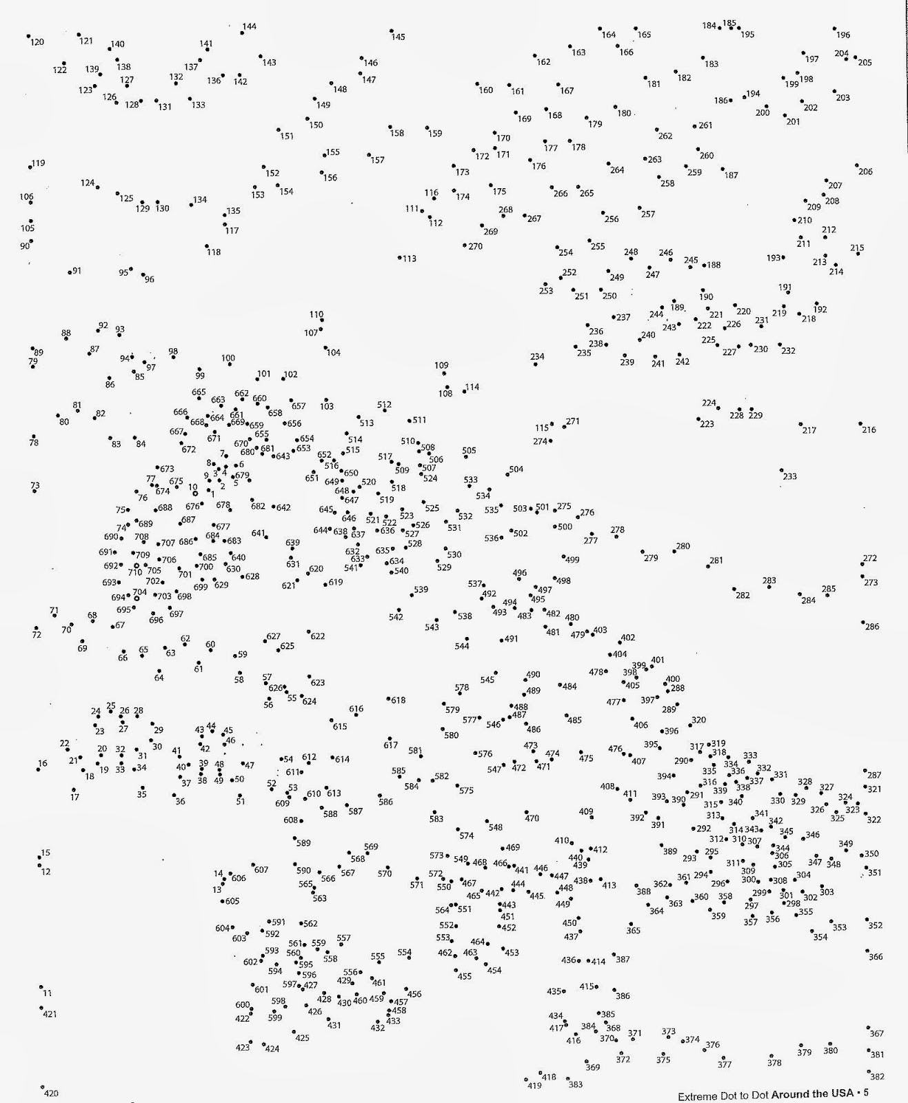 Printable Adult Connect the Dots Hard Dot to Dots Coloring Home
