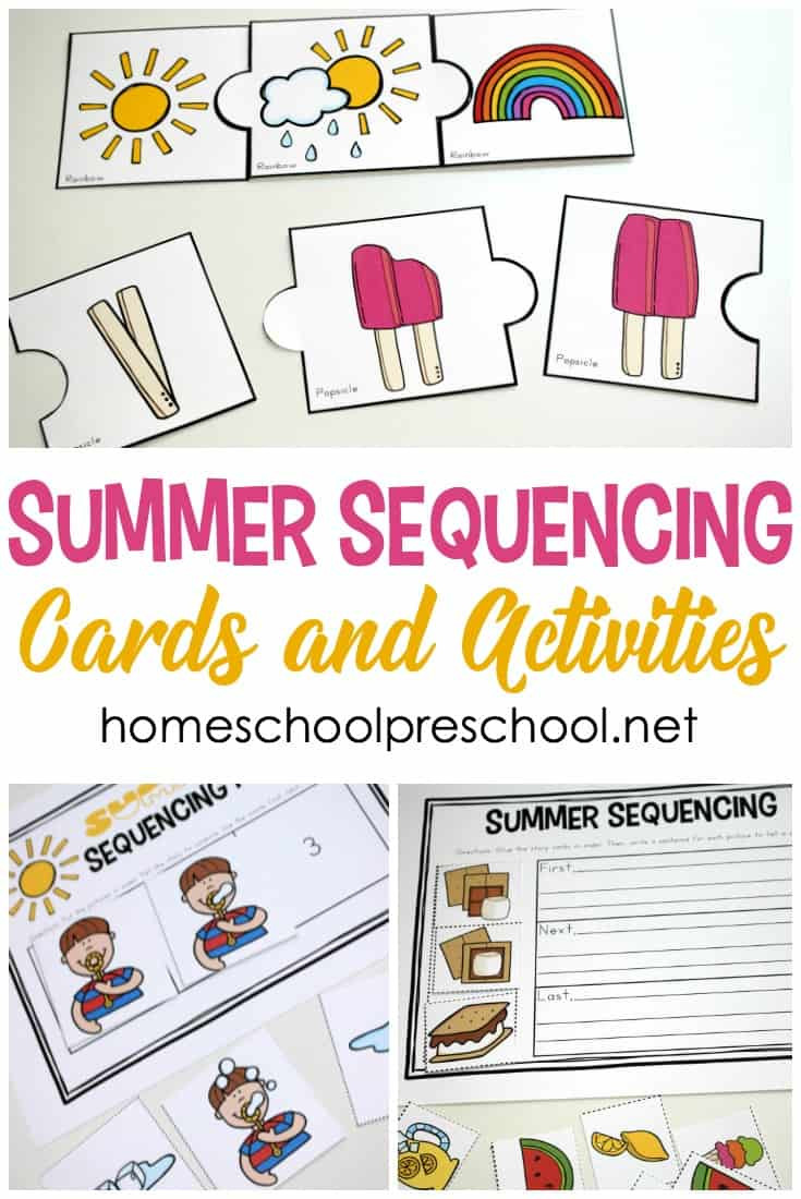 Printable Sequencing Worksheets Free Printable Summer Sequencing Cards for Preschoolers