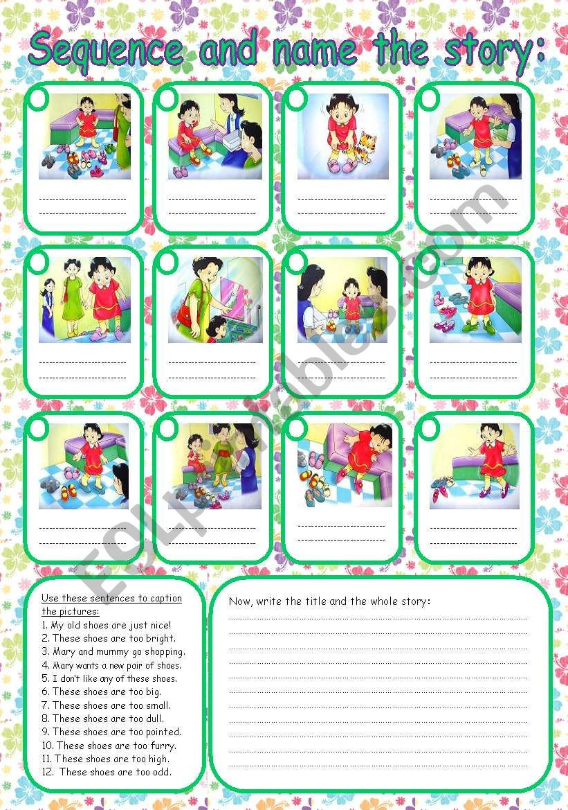 Printable Sequencing Worksheets Sequence the Story Esl Worksheet by Rumeisa