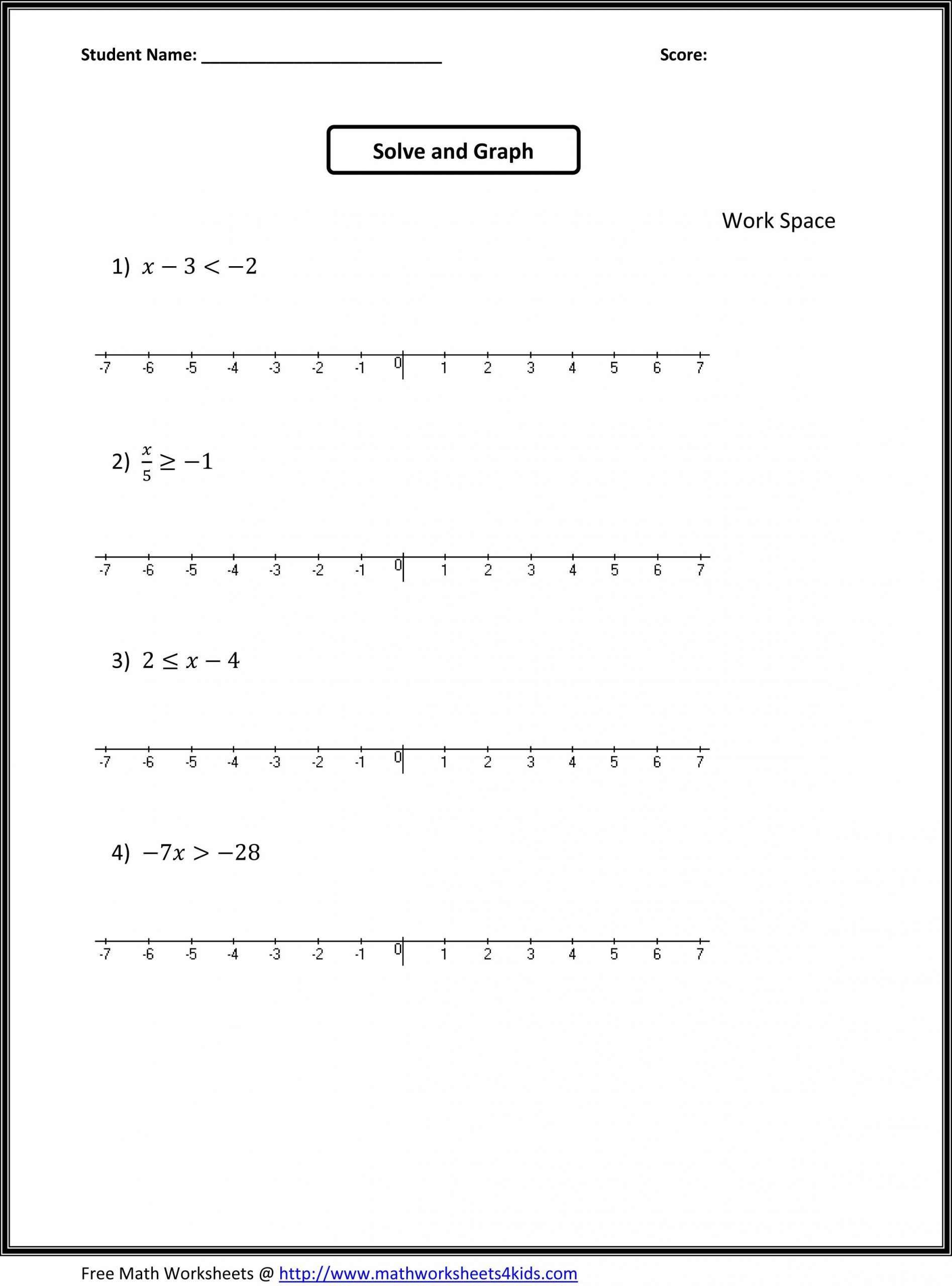 Probability Worksheets 7th Grade Pdf Math Worksheets Grade 7 Algebra