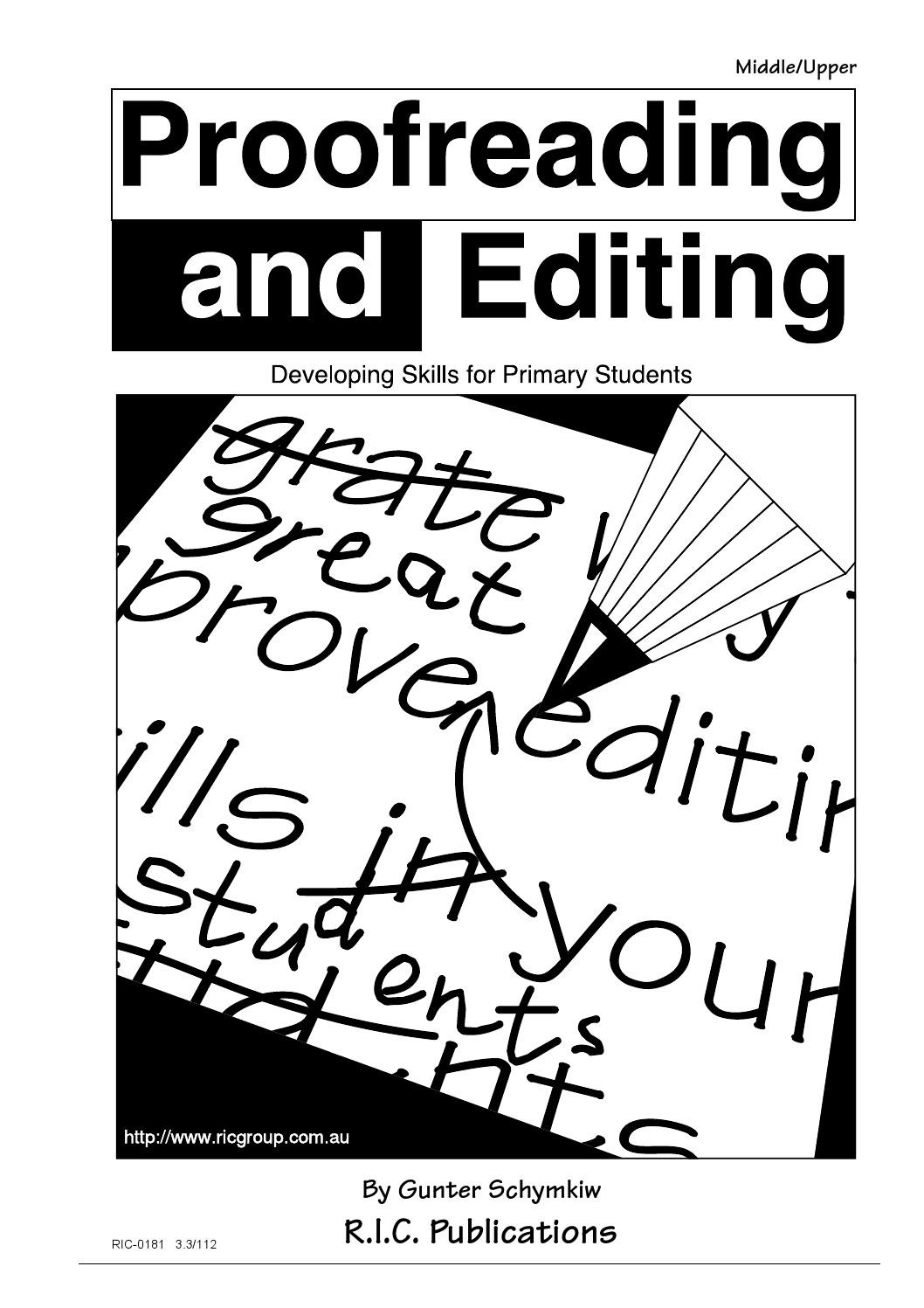 Proofreading Worksheets Middle School Proofreading and Editing Ages 9 12 by Teacher Superstore