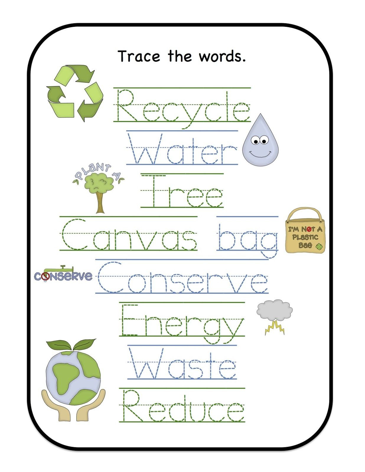 Recycling Worksheets for Preschoolers Earth Day Printables