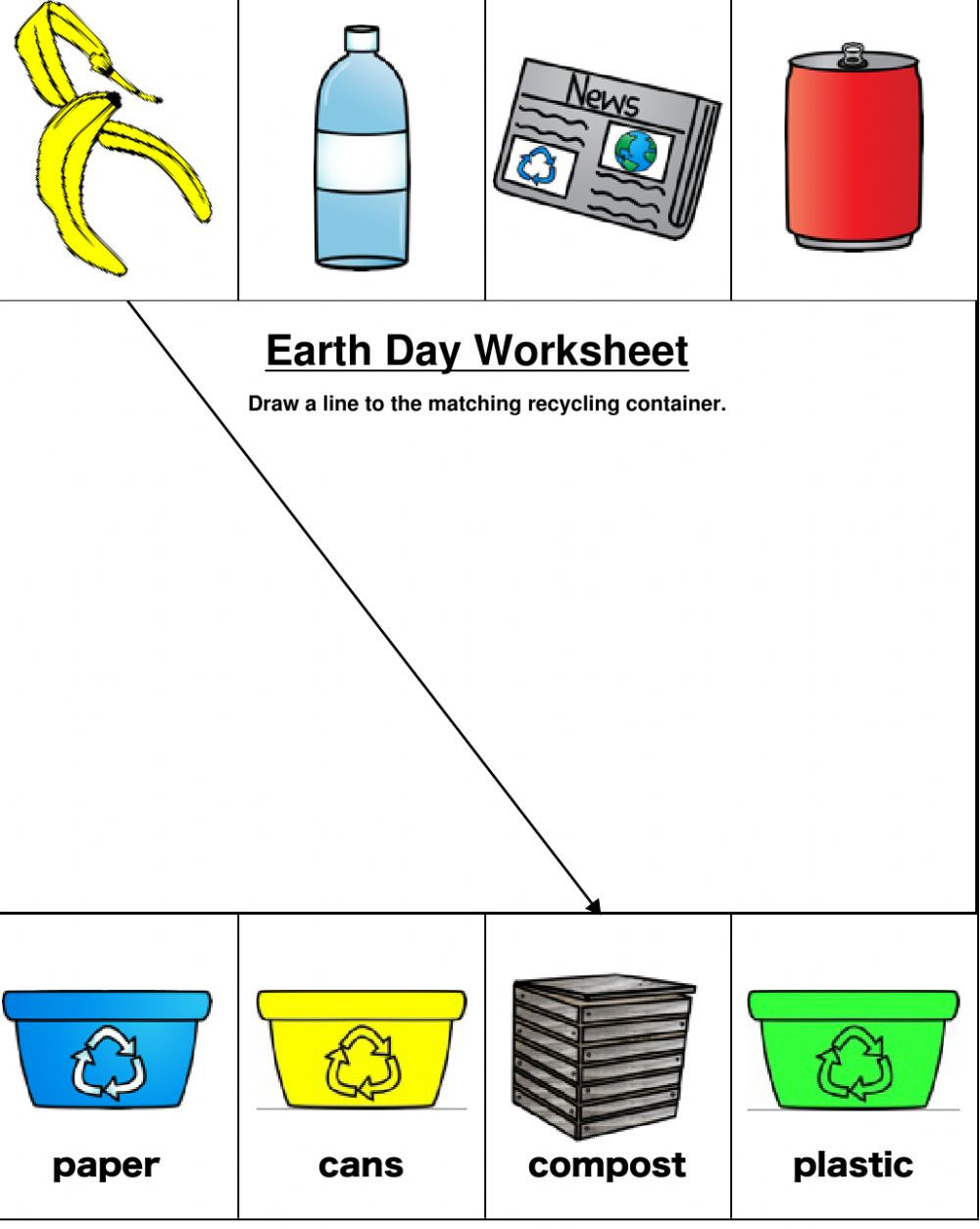 Recycling Worksheets for Preschoolers Earth Day Worksheet Interactive Worksheet