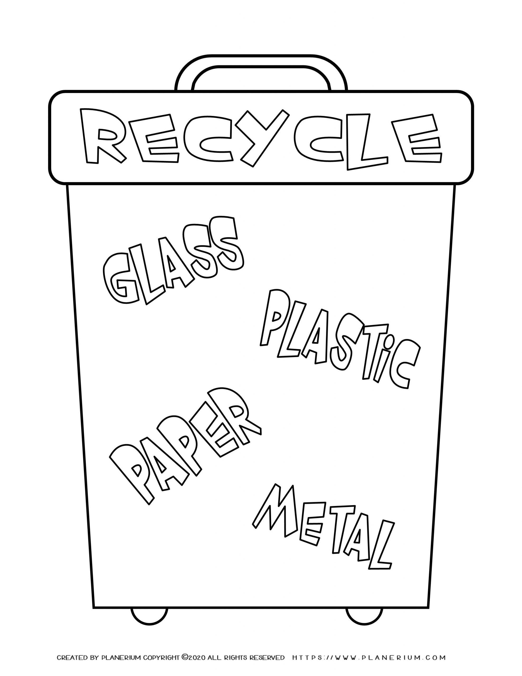 Recycling Worksheets for Preschoolers Home Recycle Worksheet