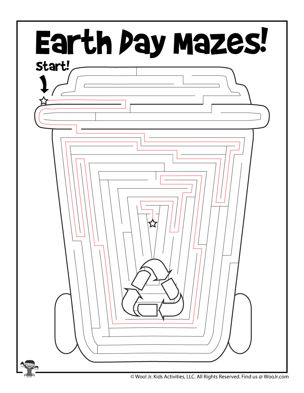 Recycling Worksheets for Preschoolers Recycled Cup Earth Day Maze Worksheet for Kids Key