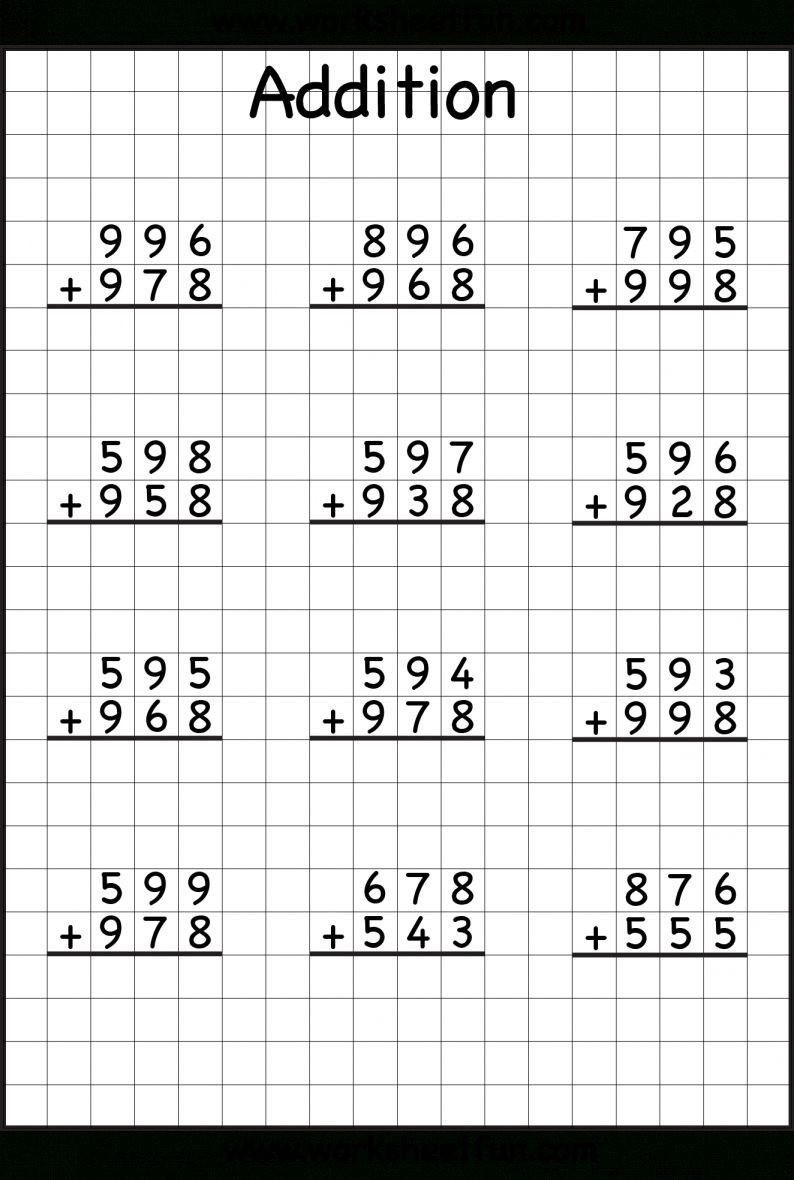 Regrouping Subtraction Worksheets 3rd Grade 7 Addition and Subtraction with Regrouping Worksheets 3rd