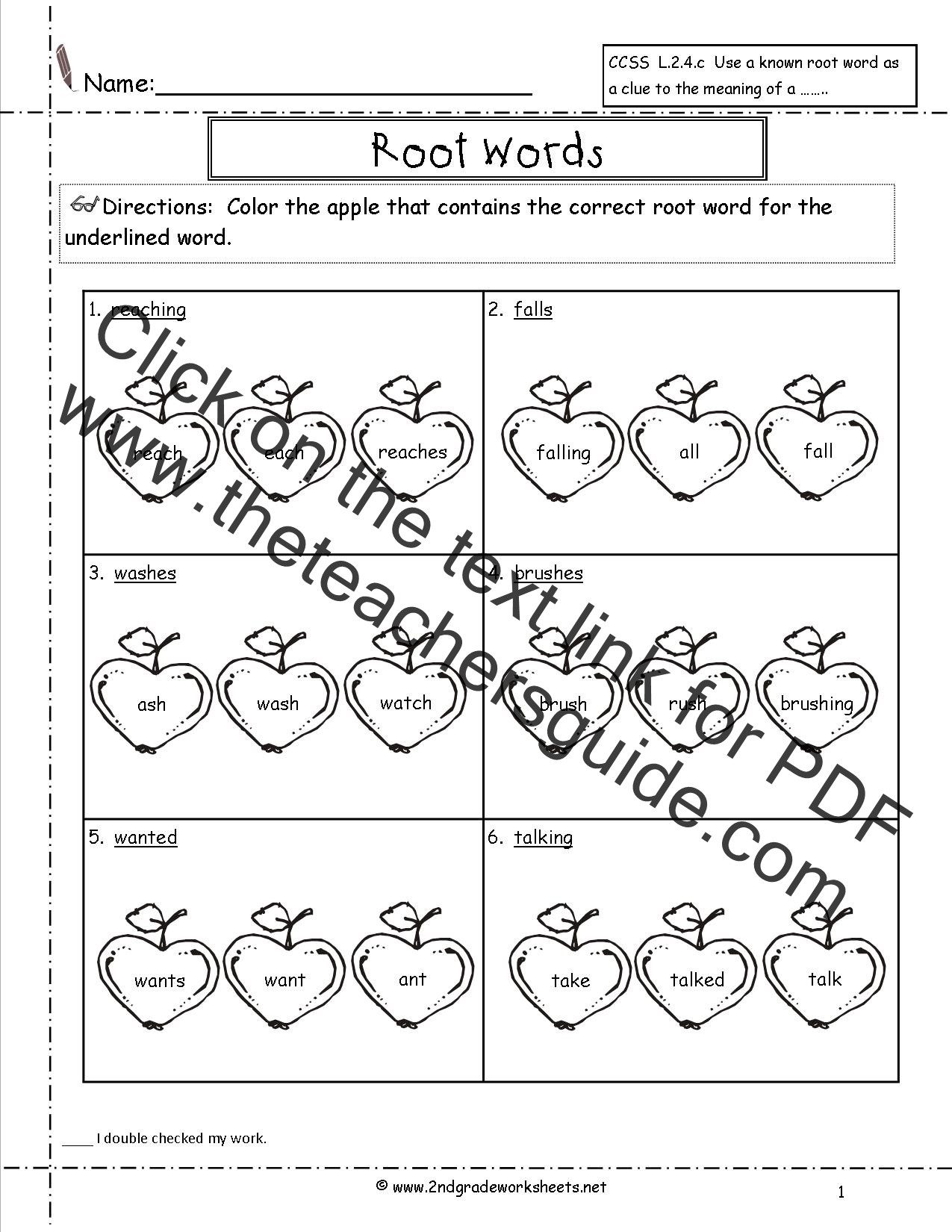 Root Word Worksheets 2nd Grade Wonders Second Grade Unit E Week Four Printouts