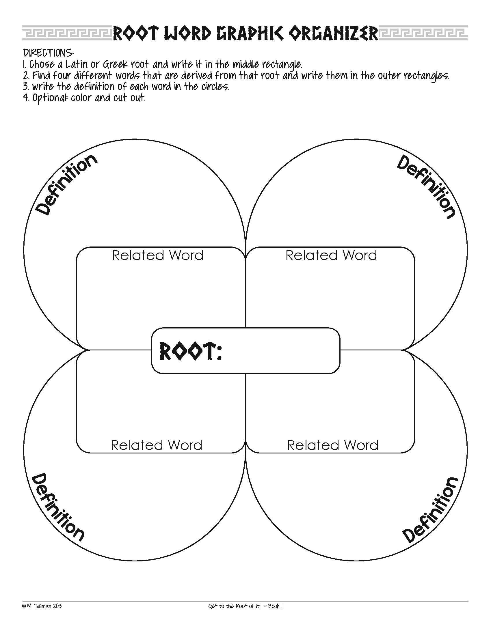 Root Word Worksheets 4th Grade Free Greek and Latin Root Word Activities